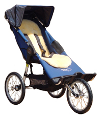 Lambskin Comfort Liner on a Baby Jogger Independence - click for larger image