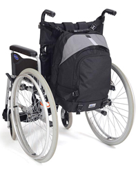 Rucksack mounted onto a Wheelchair